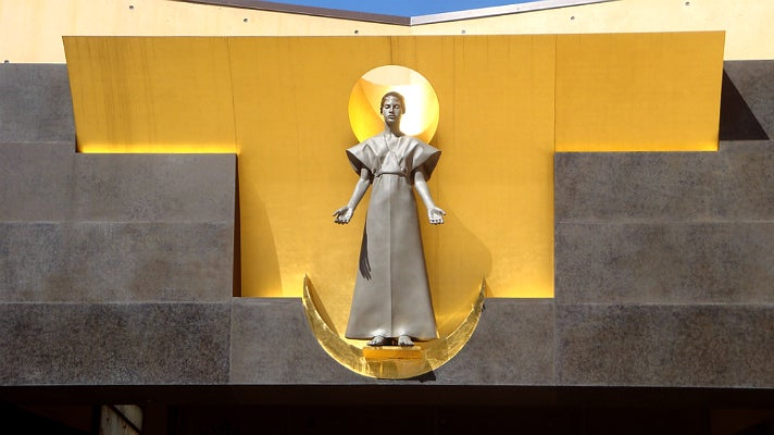 """""""Our Lady of the Angels"""" at the Cathedral of Our Lady of the Angels"""