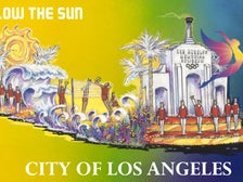 "Rendering of ""Follow the Sun,"" the City of Los Angeles float in the 128th Rose Parade"