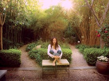 Meditating in the Peace Awareness Labyrinth & Gardens