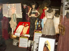 "Costumes by legendary designers Bob Mackie and Edith Head, on display at ""Reel to Real"" at Hollywood Museum"