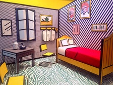 "Roy Lichtenstein, ""Bedroom at Arles"" installation at Skirball Cultural Center"