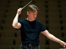 Esa-Pekka Salonen in rehearsal with LA Phil