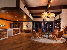 Front desk and lobby at The Garland