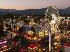 Carnival rides at L.A. County Fair