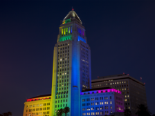 Los Angeles City Hall celebrates LGBT Heritage Month