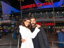 Sonam Kapoor and Anand Ahuja at STAPLES Center