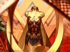 """Costume from """"Wonder Woman"""" on view at Warner Bros. Studio Tour Hollywood"""