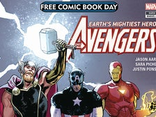 """The Avengers"" FCBD 2018 Gold Comic"