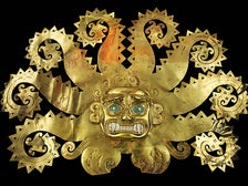 """Octopus Frontlet"" from ""Golden Kingdoms: Luxury and Legacy in the Ancient Americas"" at the Getty Center"