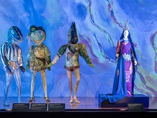 """Installation photograph, """"Chagall: Fantasies for the Stage,"""" from """"The Magic Flute,"""" LACMA"""