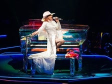 Lady Gaga performs at The Forum in Los Angeles during the Joanne World Tour