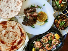 Indian dishes at Bombay Palace in Beverly Hills
