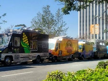 Food trucks on Museum Row in the Miracle Mile