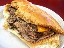 """Beef """"double-dip"""" with cheddar at Philippe the Original"""