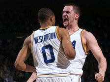 Russell Westbrook and Kevin Love at UCLA in March 2008