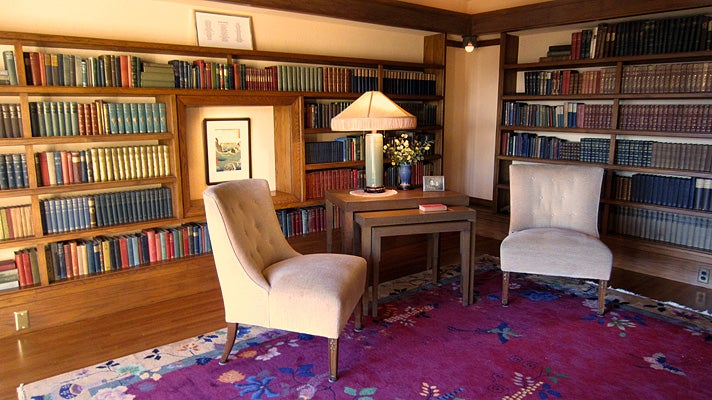 Library at Hollyhock House