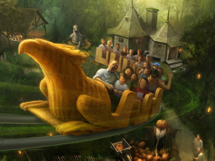 """""""Flight of the Hippogriff"""" at Universal Studios Hollywood"""