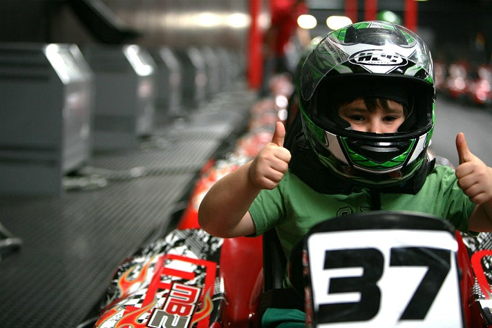 MB2 Raceway indoor kart racing in Sylmar