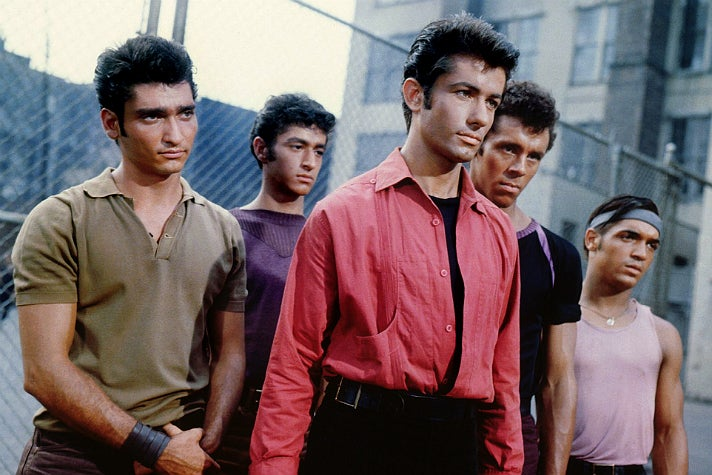 """The Sharks in """"West Side Story"""" (1961)"""