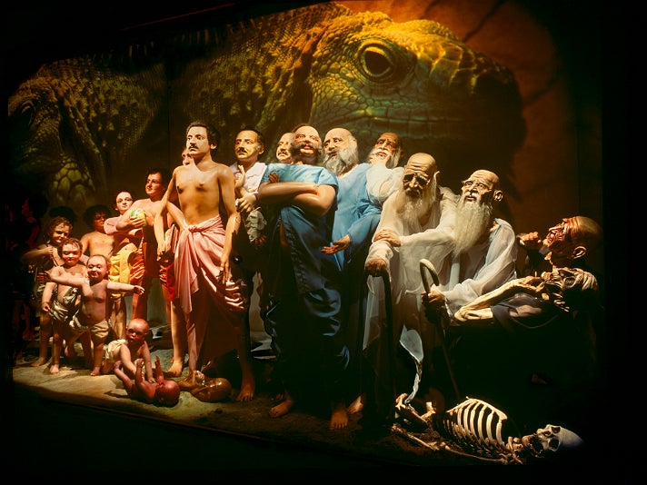 """Changing Bodies"" diorama at Bhagavad-gita Museum"