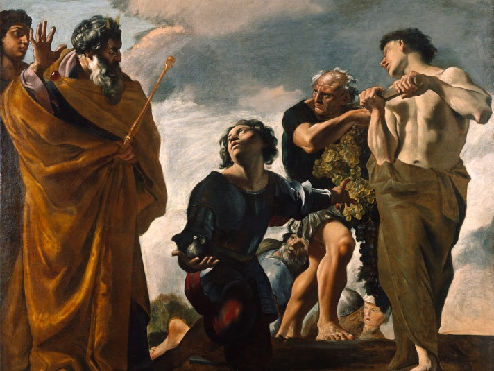 """""""Moses and the Messengers from Canaan"""" by Giovanni Lanfranco at the Getty Center"""