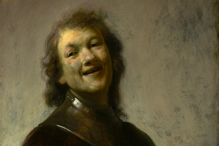 "Rembrandt Harmensz. van Rijn - ""Rembrandt Laughing"" at Getty Center"