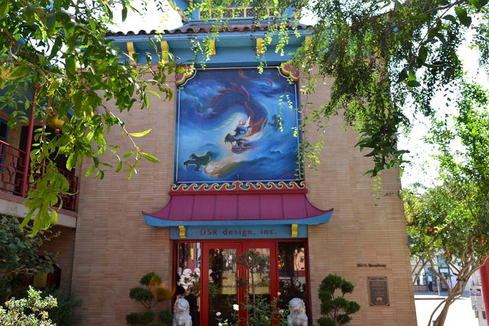 """Chinese Celestial Dragon"" mural by Tyrus Wong"