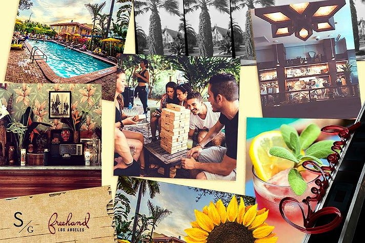 Freehand Los Angeles photo collage