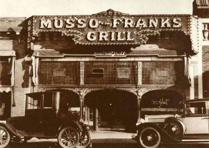 Vintage photo of Musso & Frank Grill
