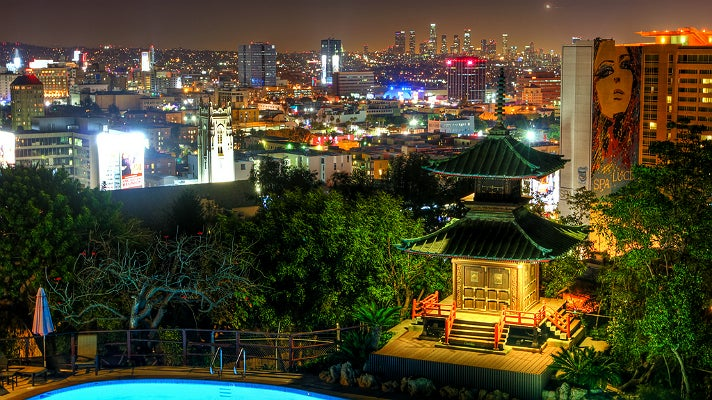 The 600-year-old pagoda and spectacular view at Yamashiro