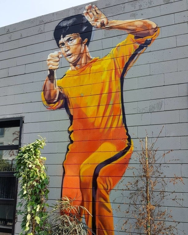 Bruce Lee by Samir Argandiwall at The Container Yard in the Arts District