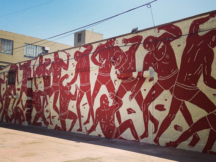 """""""Untitled"""" by Cleon Peterson on E. 7th Pl. (at S. Santa Fe) in the Arts District"""