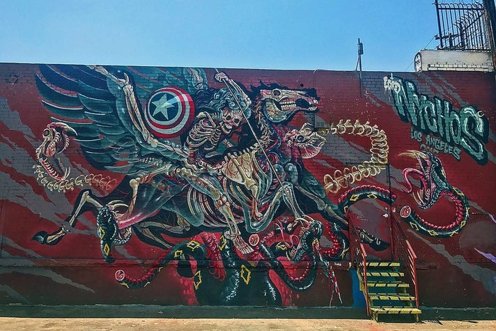 """""""Captain Hercules Fighting Hydra"""" by Nychos at The Container Yard"""