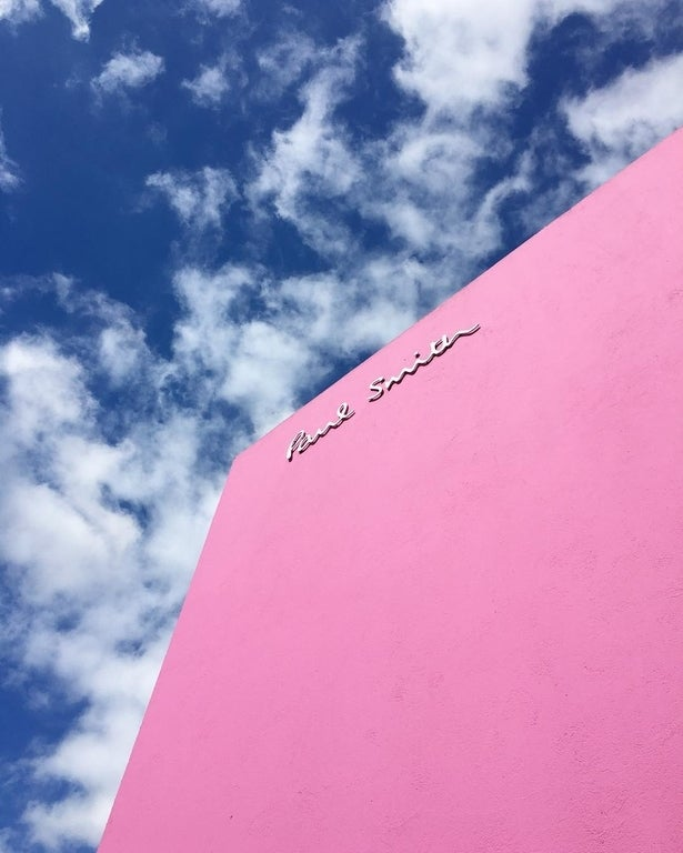 The Pink Wall at Paul Smith Los Angeles
