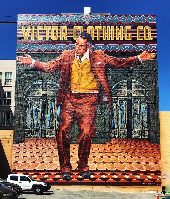 """""""Pope of Broadway"""" mural by Eloy Torrez"""