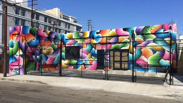Mural by Ricky Watts at The Container Yard in the Arts District