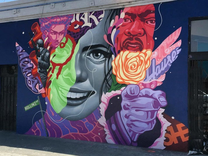 """""""Rollins Avenue"""" by Tristan Eaton in the Arts District"""