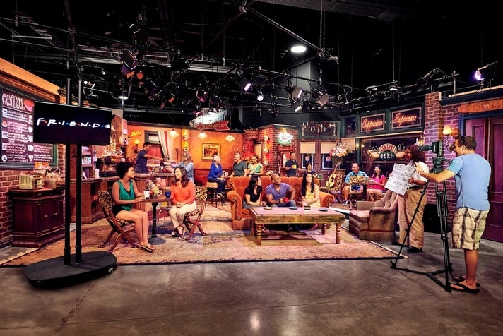 Central Perk set from Stage 48: Script to Screen at Warner Bros. Studio Tour Hollywood