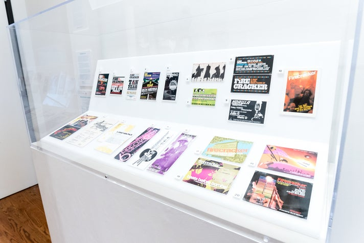 """Firecracker display from """"Don't Believe the Hype"""" at the Chinese American Museum"""