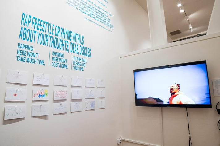 """Interactive exhibit by Jason Chu from """"Don't Believe the Hype"""" at the Chinese American Museum"""