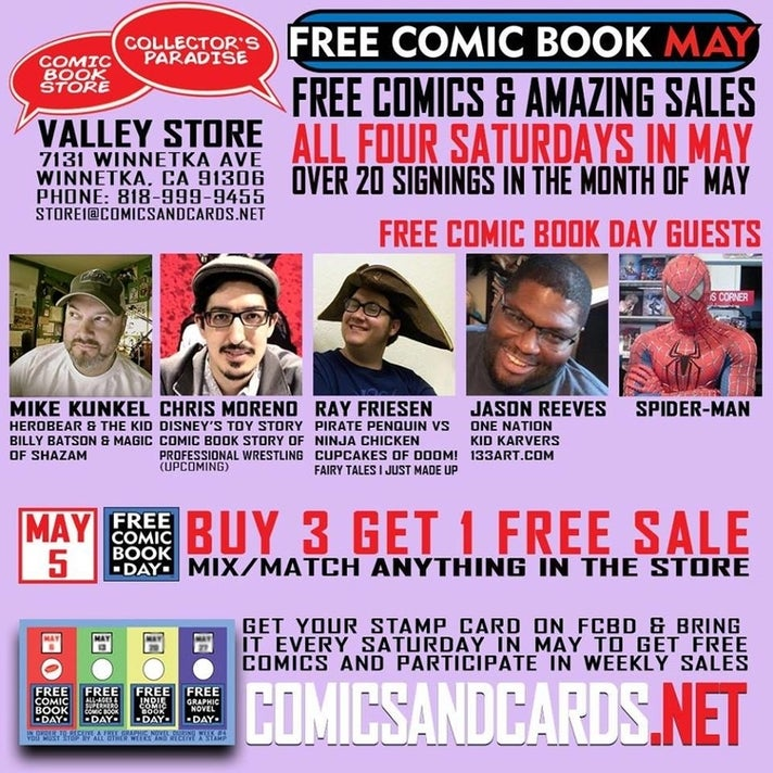 Free Comic Book Day at Collector's Paradise in Winnetka