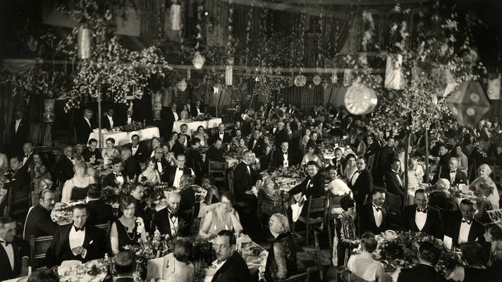 The first Academy Awards at the Hollywood Roosevelt Hotel