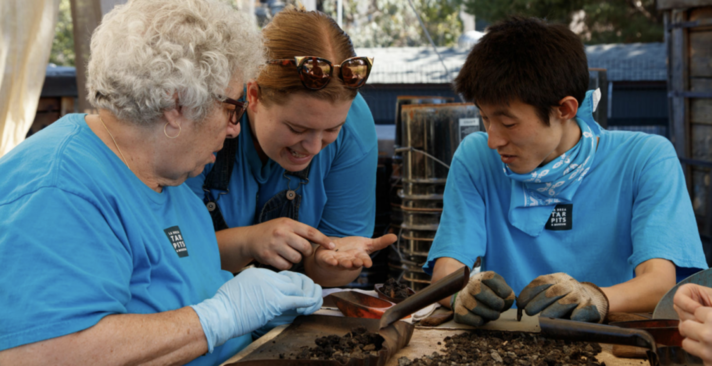 Volunteers at the La Brea Tar Pits