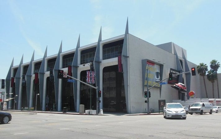 Petersen Automotive Museum before its $90-million renovation