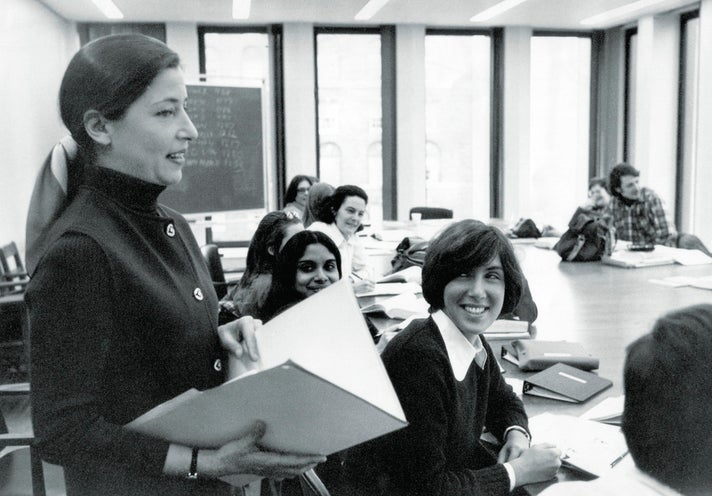 Ruth Bader Ginsburg teaching at Columbia Law School, 1972