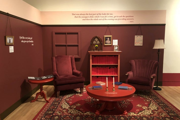 "Ruth Bader Ginsburg's childhood apartment is recreated for ""Notorious RBG"" at the Skirball"