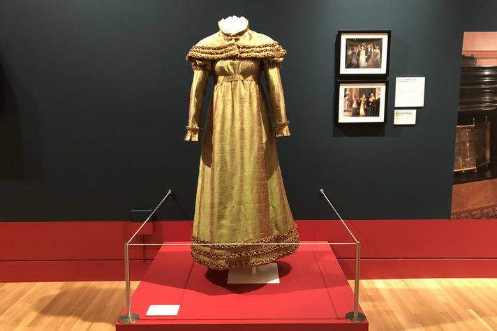 "Costume worn by RBG for her cameo in Donizetti's ""The Daughter of the Regiment"""