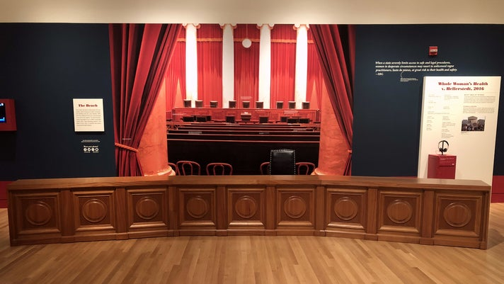 "Take a seat on the Supreme Court bench at ""Notorious RBG"""