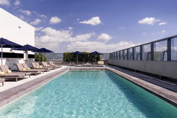 Rooftop pool at The Ritz-Carlton, Los Angeles