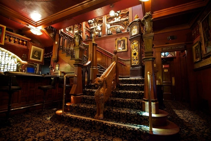 Staircase to the Grand Salon at the Magic Castle